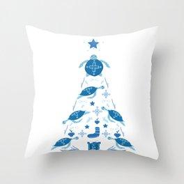Sea turtle Christmas tree turtle Throw Pillow