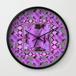 PURPLE AMETHYST FEBRUARY GEM BIRTHSTONES MODERN ART DESIGN Wall Clock