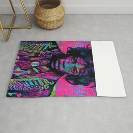 rock and roll in pink Rug
