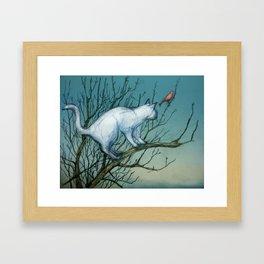Cautious Framed Art Print