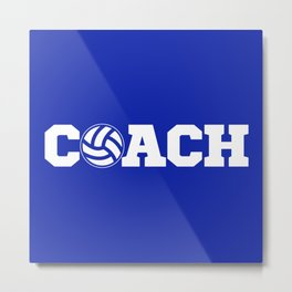 Coach Volleyball Metal Print