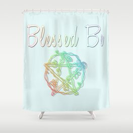 Blessed be with pentacle Shower Curtain