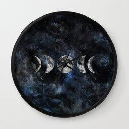 Moon Phases Luna Watercolor  2 Wall Clock