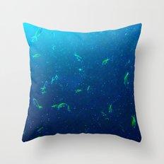 Tiny Yellow Fish Throw Pillow