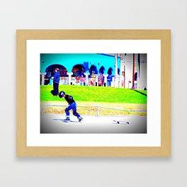 young skater Framed Art Print