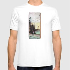 Meanwhile.. Landscape IV Mens Fitted Tee White MEDIUM