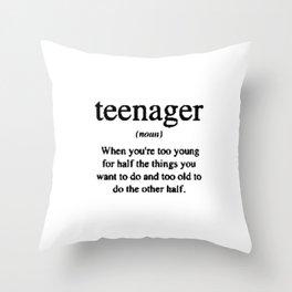 Teenager. Throw Pillow