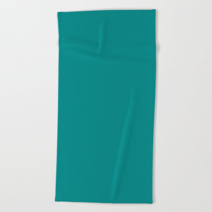 Solid Color Beach Towels.Dark Cyan Solid Color Beach Towel By Makeitcolorful