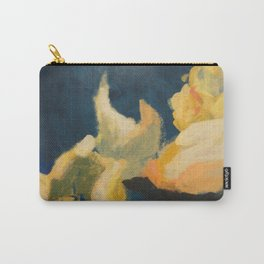 Floral blue and yellow detail Carry-All Pouch