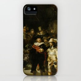 Rembrandt - The Night Watch (1642) iPhone Case