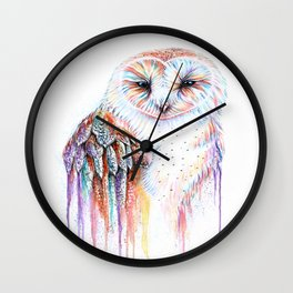 Colorful Owl Wall Clock