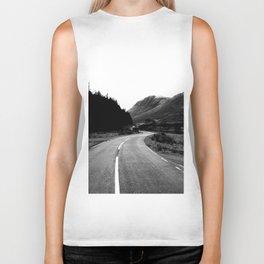 Road through the Glen - B/W Biker Tank