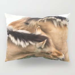 Nuzzling Horses in Color Pillow Sham