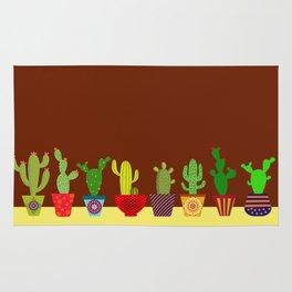 Cactus in brown Rug