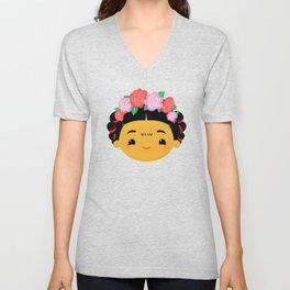 Frida Kahlo Cute Chibi Unisex V-Neck