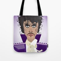 prince Tote Bags featuring Prince by Joe Pugilist Design