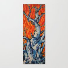 Fire and Ice Tree Canvas Print