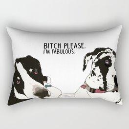 Bitch Please. I'm Fabulous. Great Dane Dogs. Rectangular Pillow