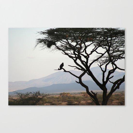 Eagle Owl Silhouette Canvas Print