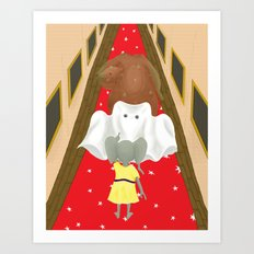 Boo! But Tiny Mouse I Think You Should Look Behind You! Art Print