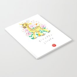 Giraffe Nursery Illustration Notebook