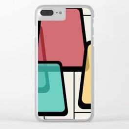 Mid-Century Modern Art Landscape 1.1 Clear iPhone Case