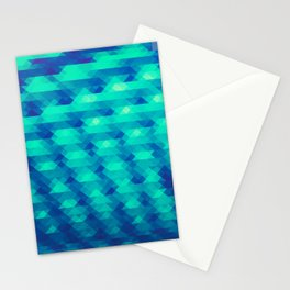 Modern Fashion Abstract Color Pattern in Blue / Green Stationery Cards