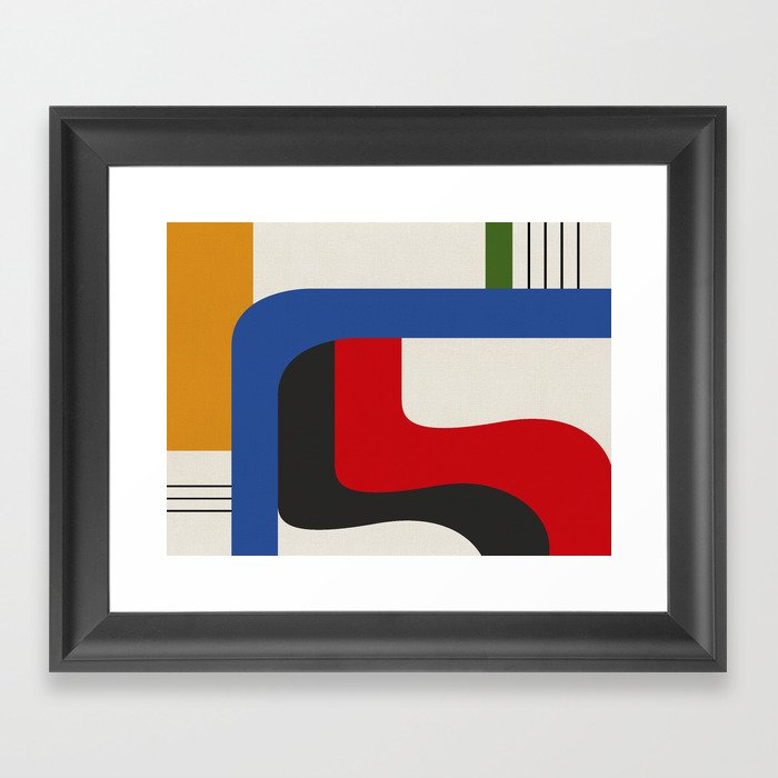 TAKE ME OUT (abstract geometric) Gerahmter Kunstdruck