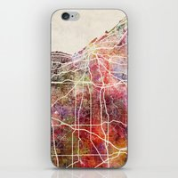 cleveland iPhone & iPod Skins featuring Cleveland by MapMapMaps.Watercolors