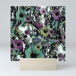 Mrs. Sandman, melting rose skull pattern Mini Art Print