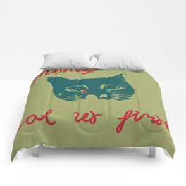 sadly cat Comforters