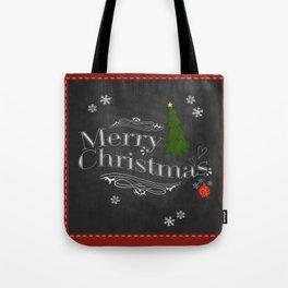 Chalkboard Christmas Tote Bag