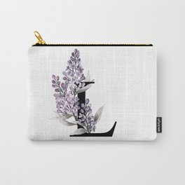 Letter 'L' Lilac Carry-All Pouch
