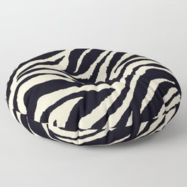 Zebra Animal Print Black and off White Pattern Floor Pillow