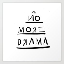 Basquiat No More Drama Art Print