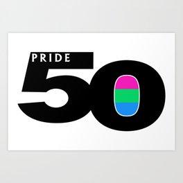 50 Pride Polysexual Pride Flag Art Print