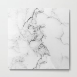 Luxury white marble Metal Print