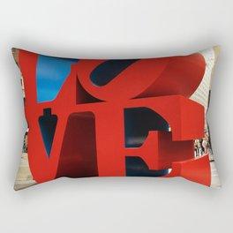 Love Sculpture - NYC Rectangular Pillow