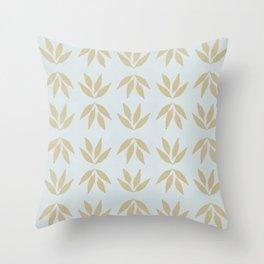 Leafs pattern - backyard grass #581 Throw Pillow