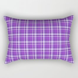Blurple Plaid Rectangular Pillow