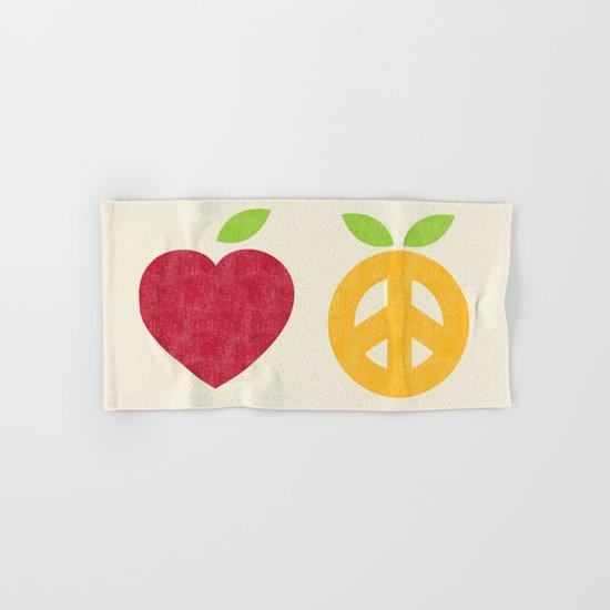 Apple and Orange - Love and Peace Hand & Bath Towel