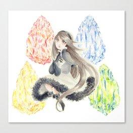Bravely Default Agnes & Crystals Watercolor Canvas Print