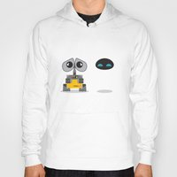 wall e Hoodies featuring Wall-E and Eve by Steph Dillon