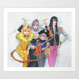 Golden Halloween Art Print