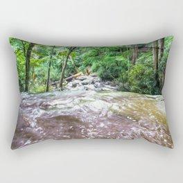 Looking Down the Falls Rectangular Pillow