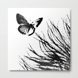 Feathers and Flutters Metal Print
