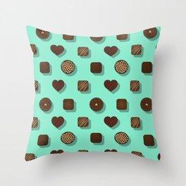 Box of Chocolates Pattern Throw Pillow