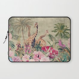 Vintage & Shabby Chic - Tropical Animals And Flower Garden Laptop Sleeve