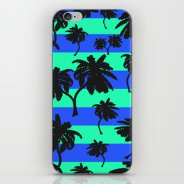 Palms on Stripes 2  iPhone Skin