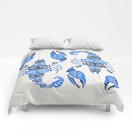 Blue Scorpion Comforters